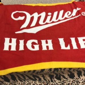 NWOT Miller High Life Blanket